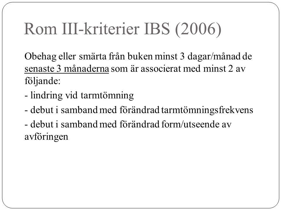 Rom III-kriterier IBS (2006)
