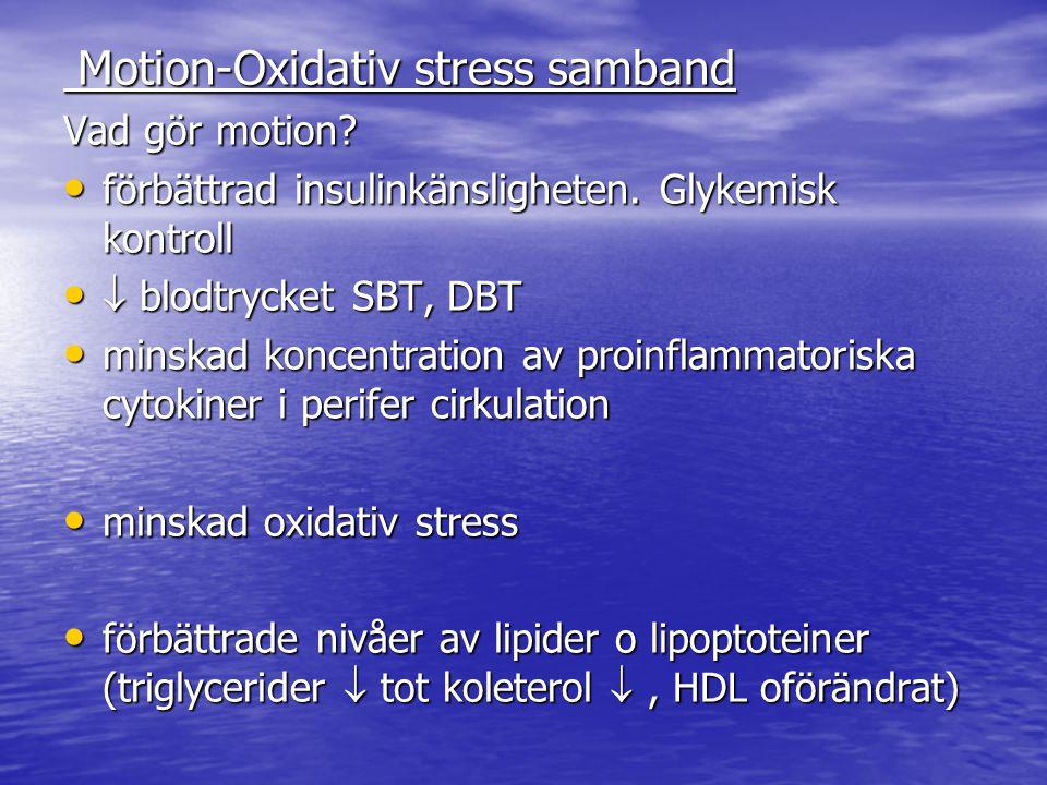 Motion-Oxidativ stress samband