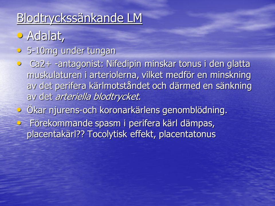 Blodtryckssänkande LM Adalat,