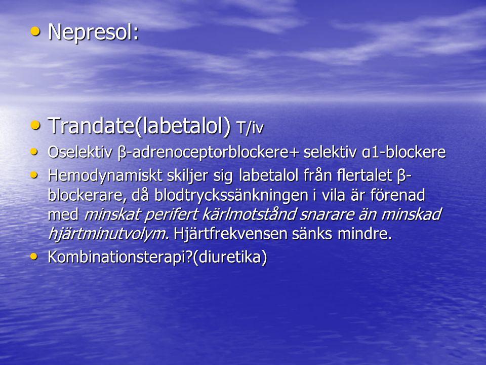 Trandate(labetalol) T/iv
