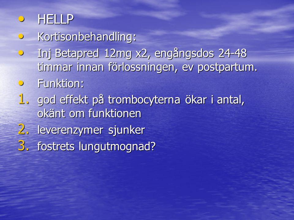 HELLP Kortisonbehandling: