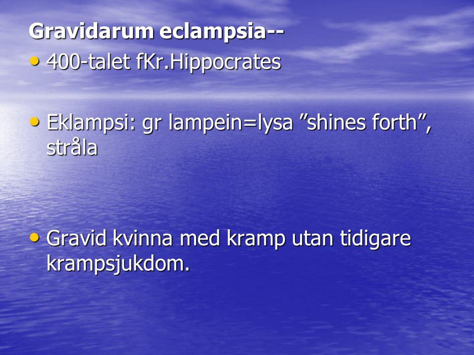 Gravidarum eclampsia--