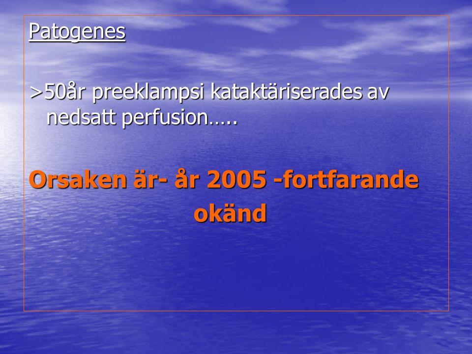 Orsaken är- år 2005 -fortfarande okänd