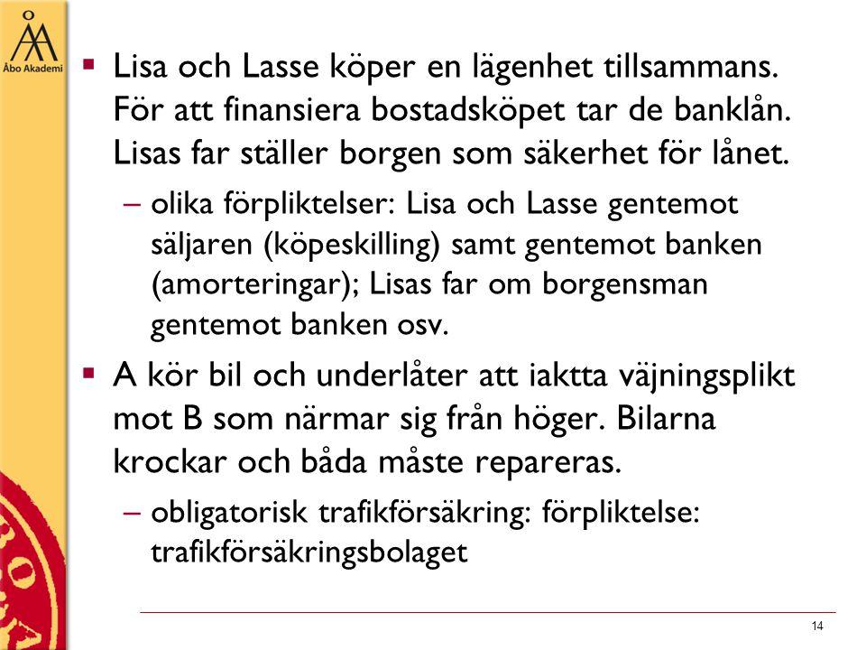 Lisa och Lasse köper en lägenhet tillsammans