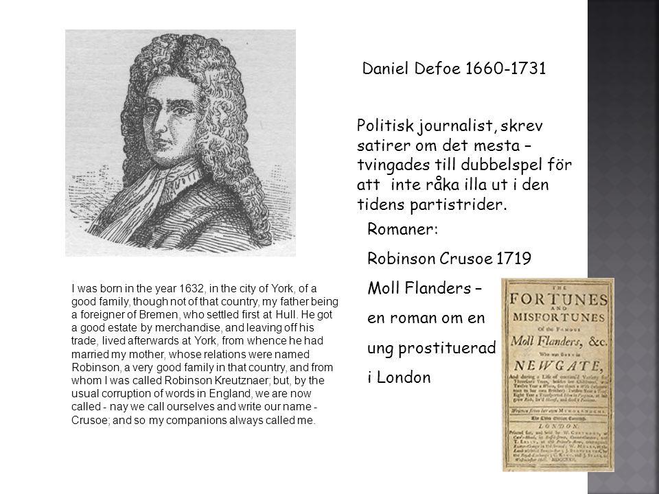 Daniel Defoe 1660-1731