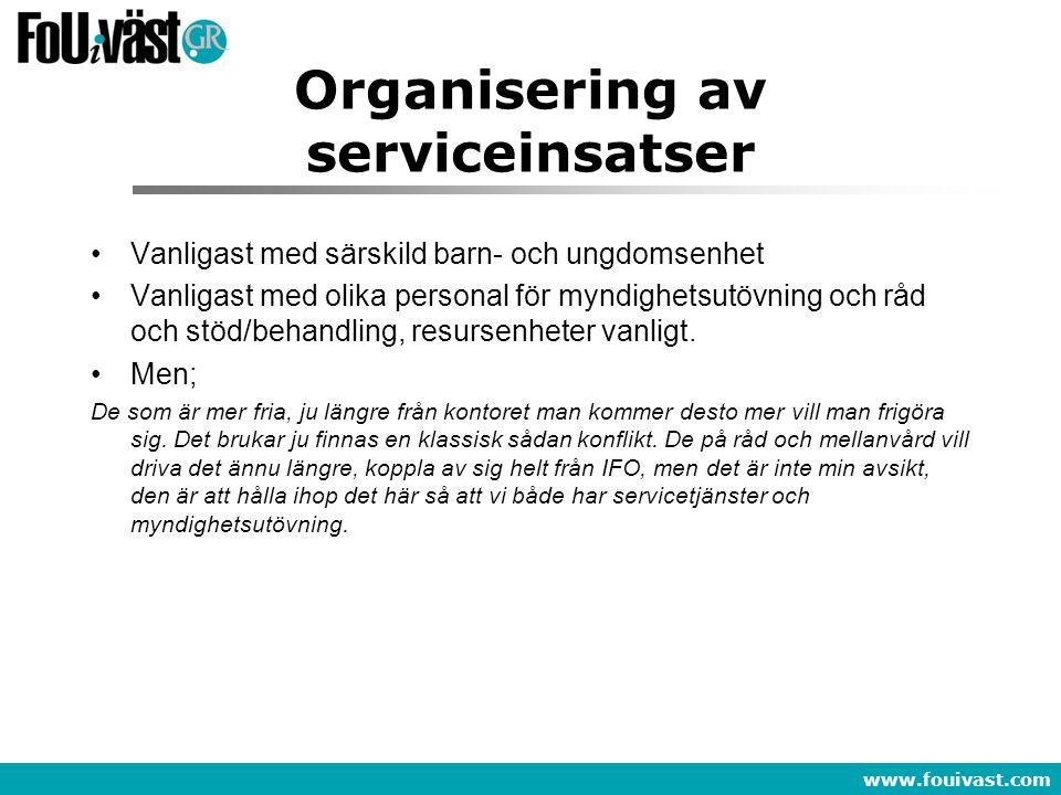 Organisering av serviceinsatser