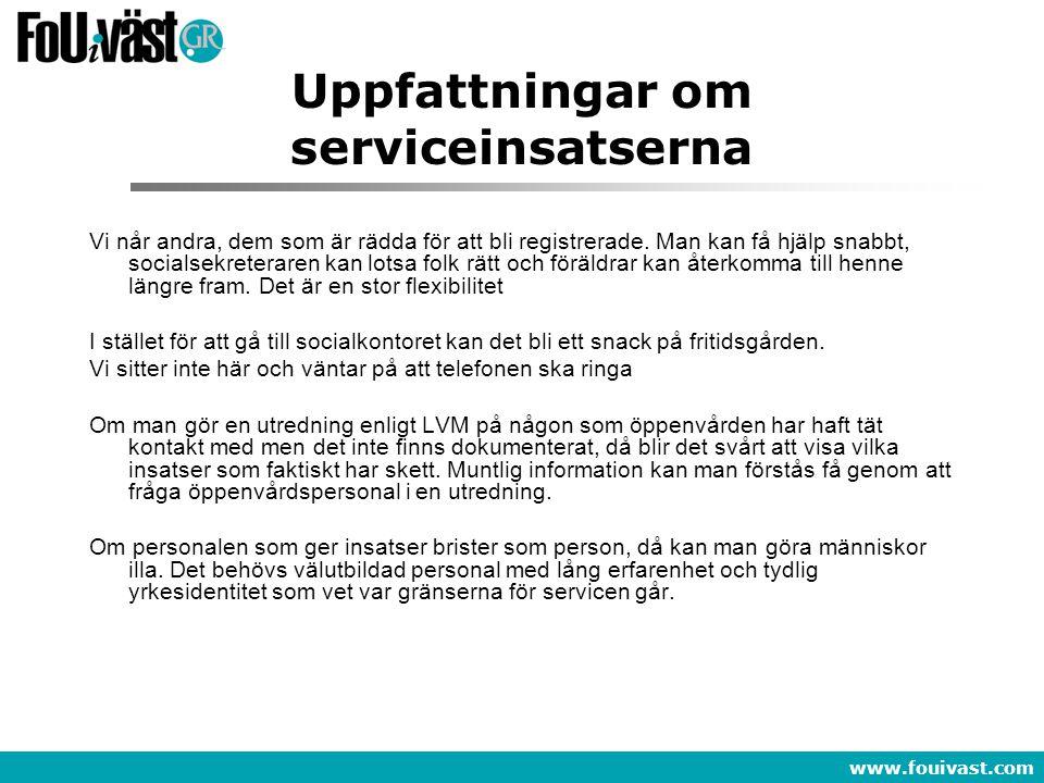 Uppfattningar om serviceinsatserna