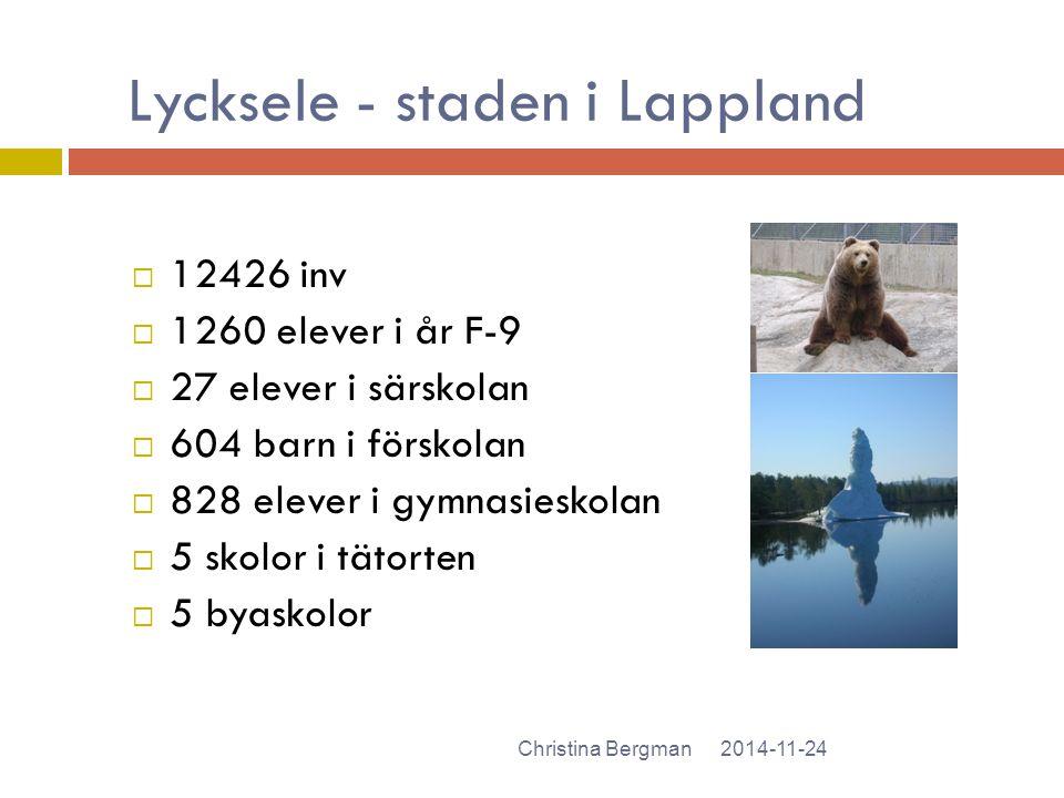 Lycksele - staden i Lappland
