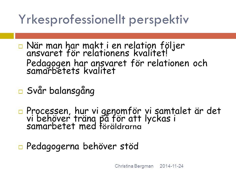 Yrkesprofessionellt perspektiv