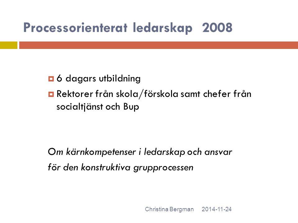 Processorienterat ledarskap 2008
