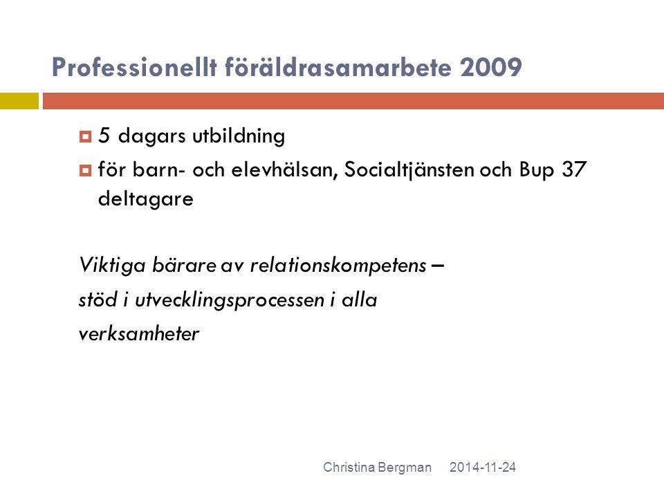 Professionellt föräldrasamarbete 2009