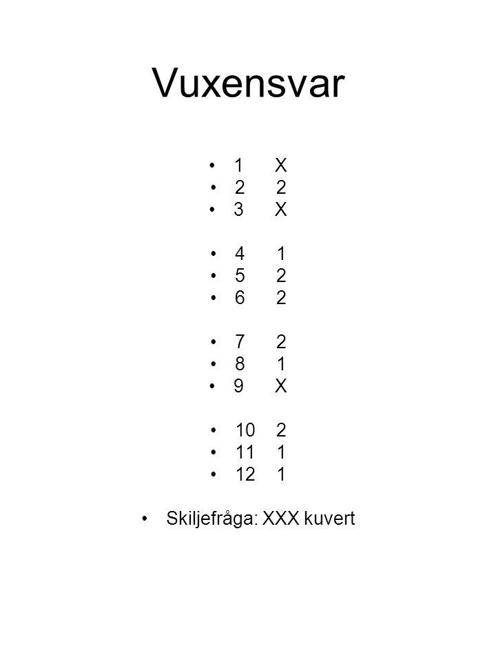 Skiljefråga: XXX kuvert