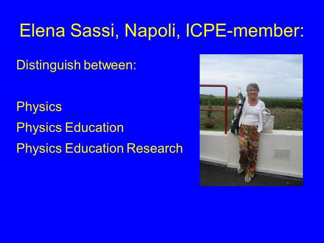 Elena Sassi, Napoli, ICPE-member: