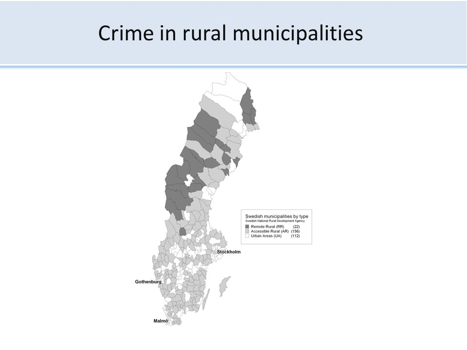 Crime in rural municipalities
