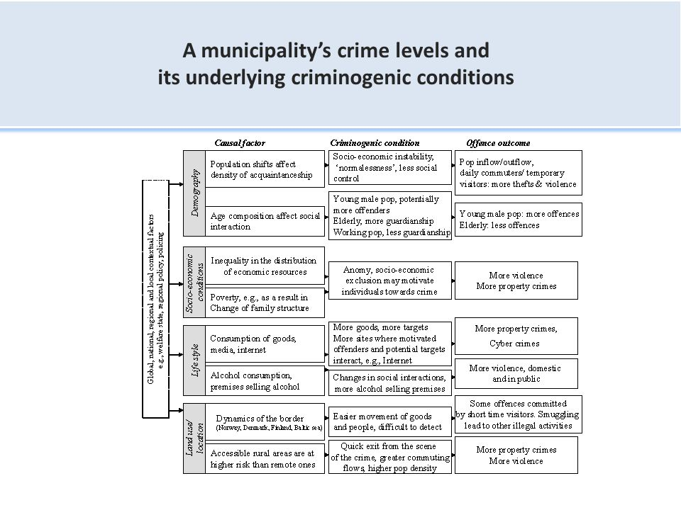A municipality's crime levels and