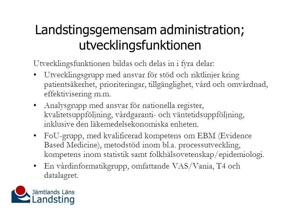 Landstingsgemensam administration; utvecklingsfunktionen