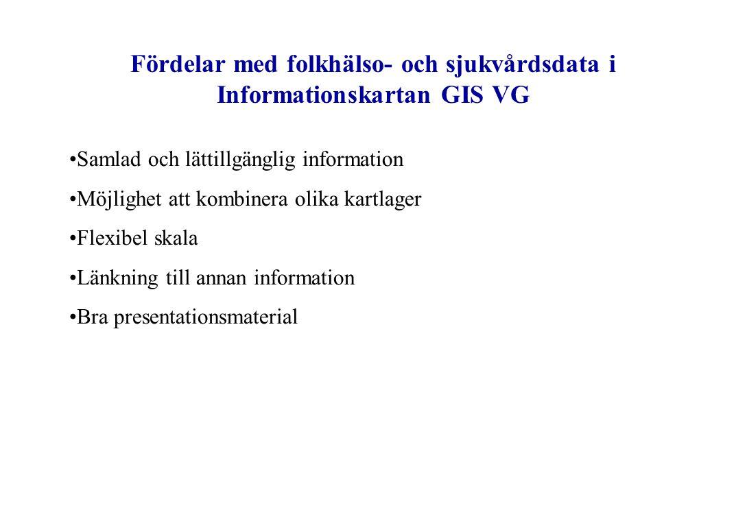 Fördelar med folkhälso- och sjukvårdsdata i Informationskartan GIS VG