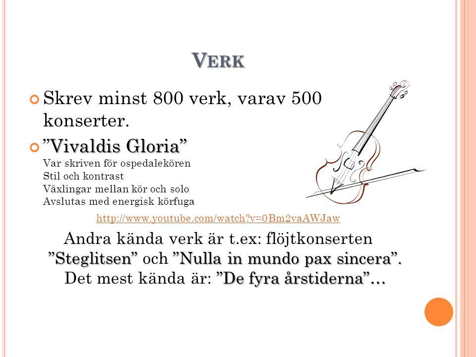 Verk Skrev minst 800 verk, varav 500 konserter.