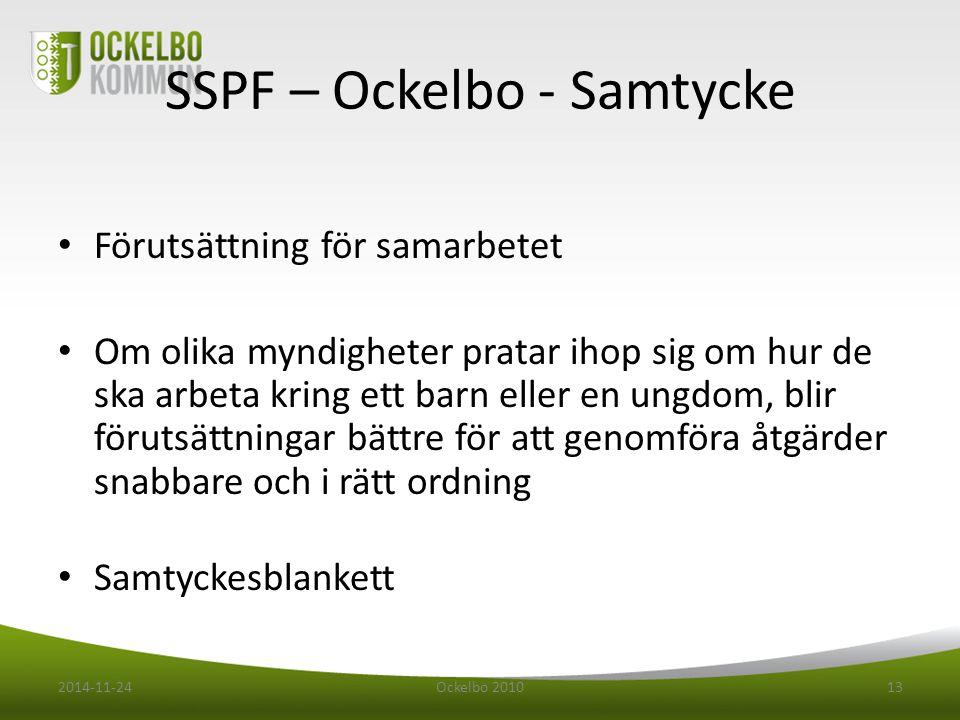 SSPF – Ockelbo - Samtycke