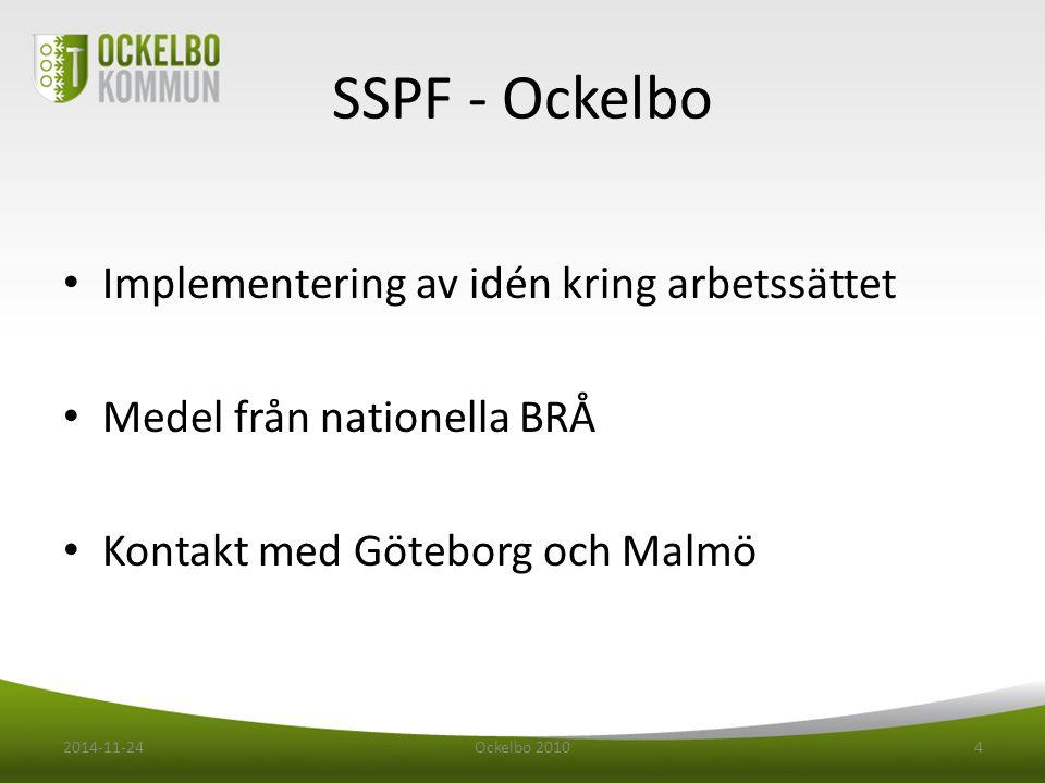 SSPF - Ockelbo Implementering av idén kring arbetssättet
