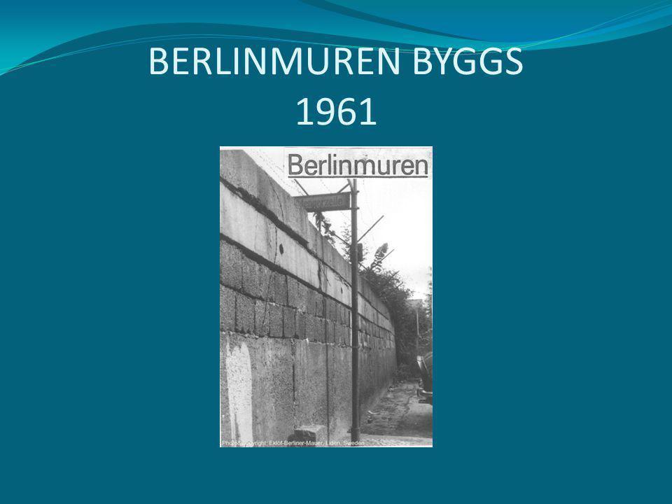 BERLINMUREN BYGGS 1961