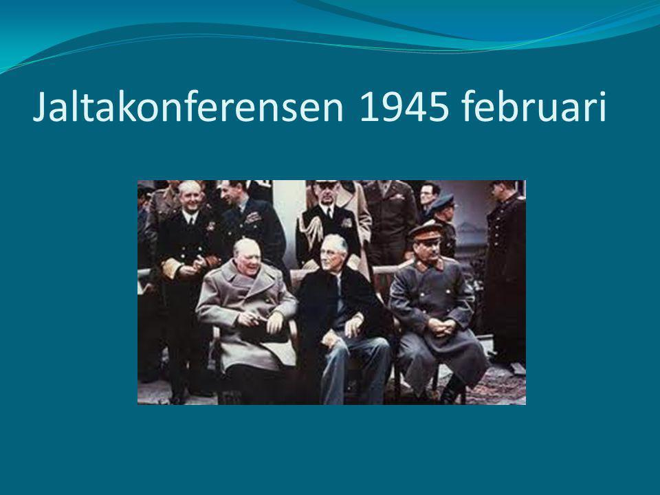 Jaltakonferensen 1945 februari