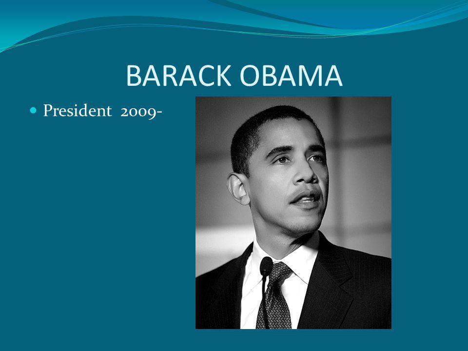BARACK OBAMA President 2009-