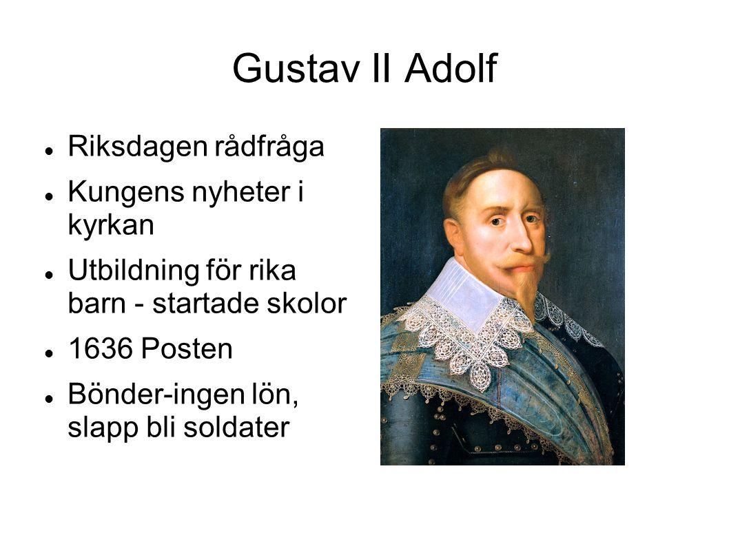 Gustav II Adolf Riksdagen rådfråga Kungens nyheter i kyrkan