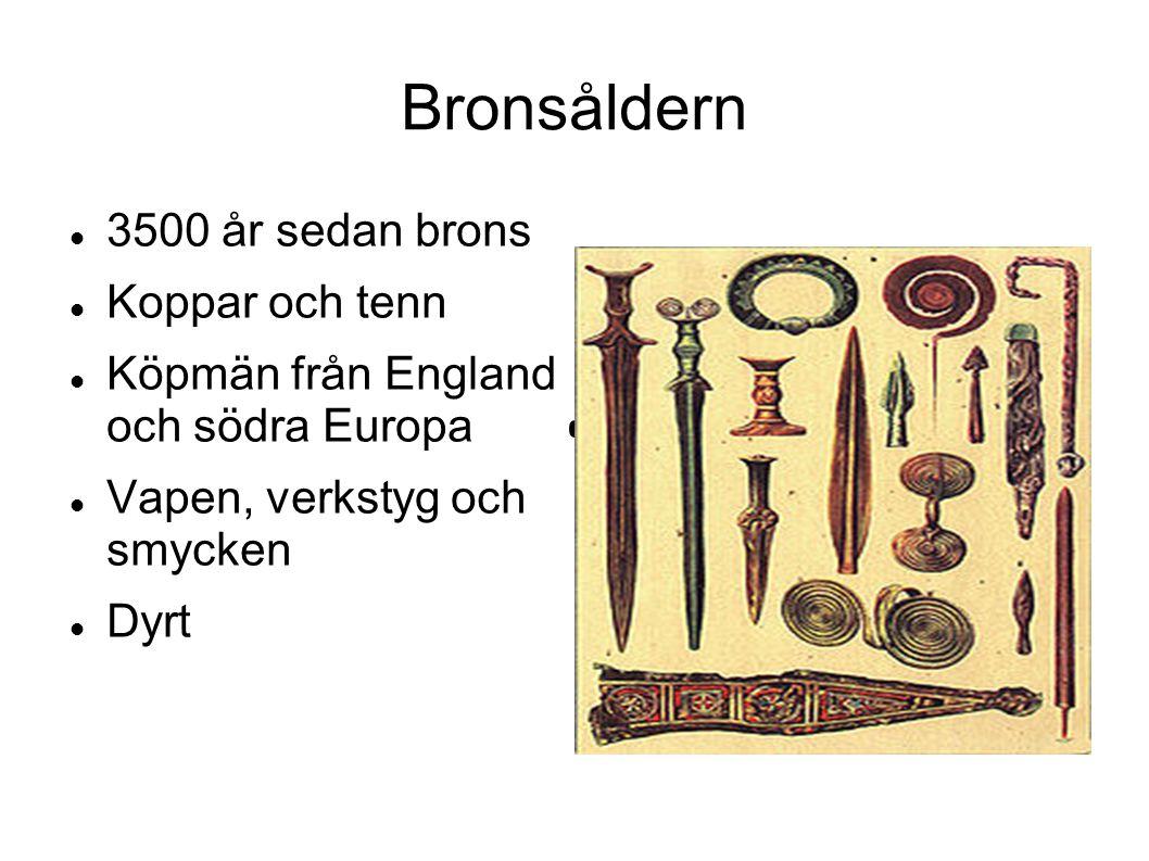 Bronsåldern 3500 år sedan brons Koppar och tenn