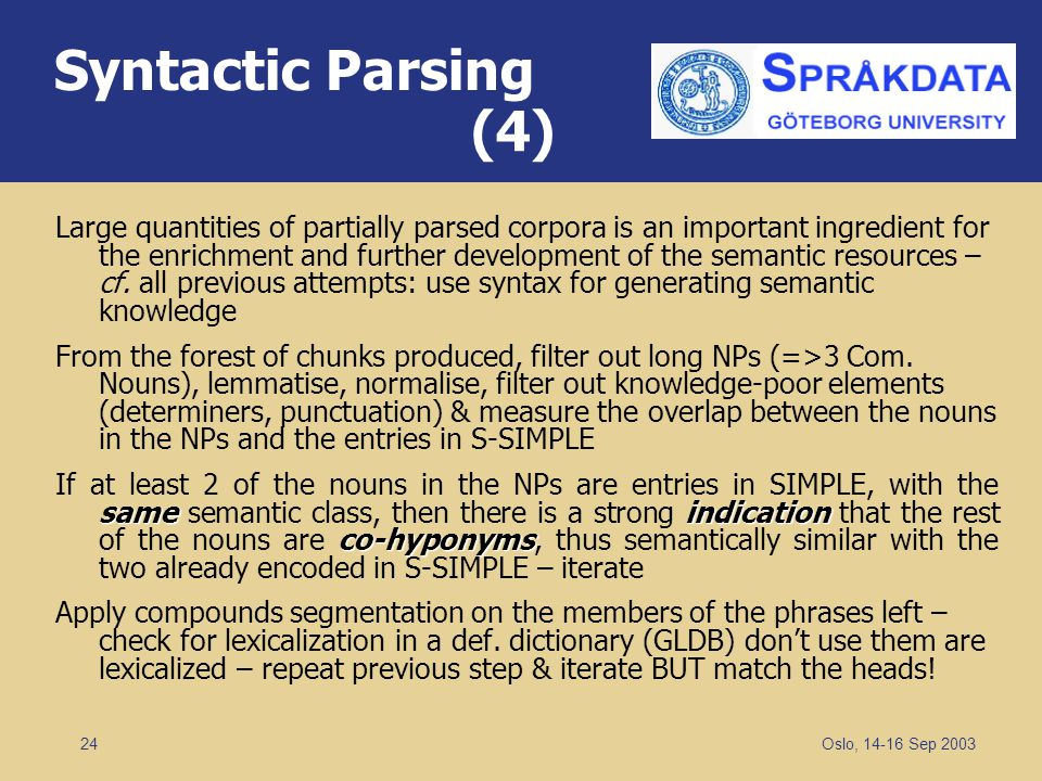 Syntactic Parsing (4)