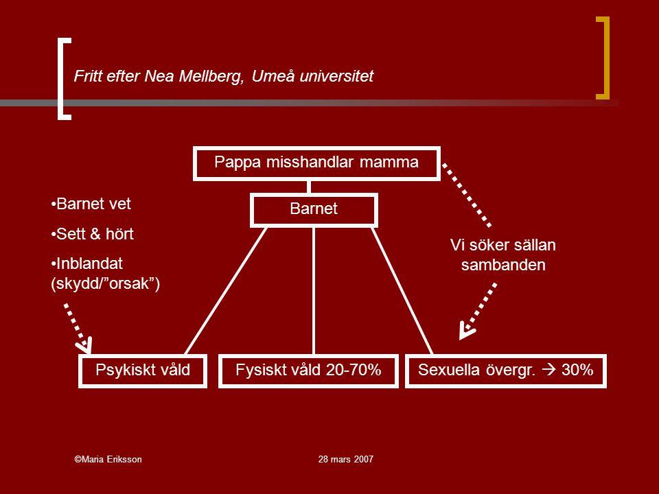Fritt efter Nea Mellberg, Umeå universitet