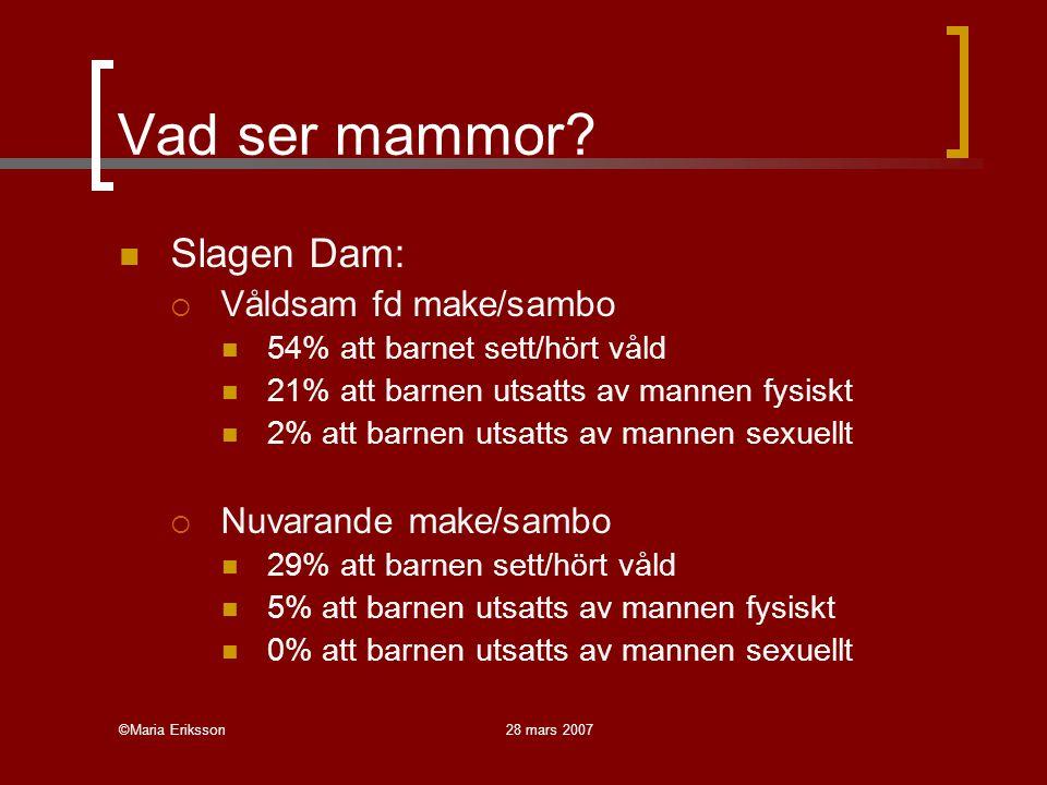 Vad ser mammor Slagen Dam: Våldsam fd make/sambo Nuvarande make/sambo