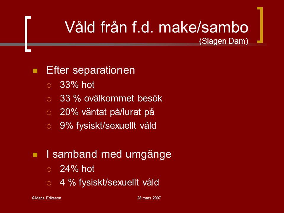 Våld från f.d. make/sambo (Slagen Dam)