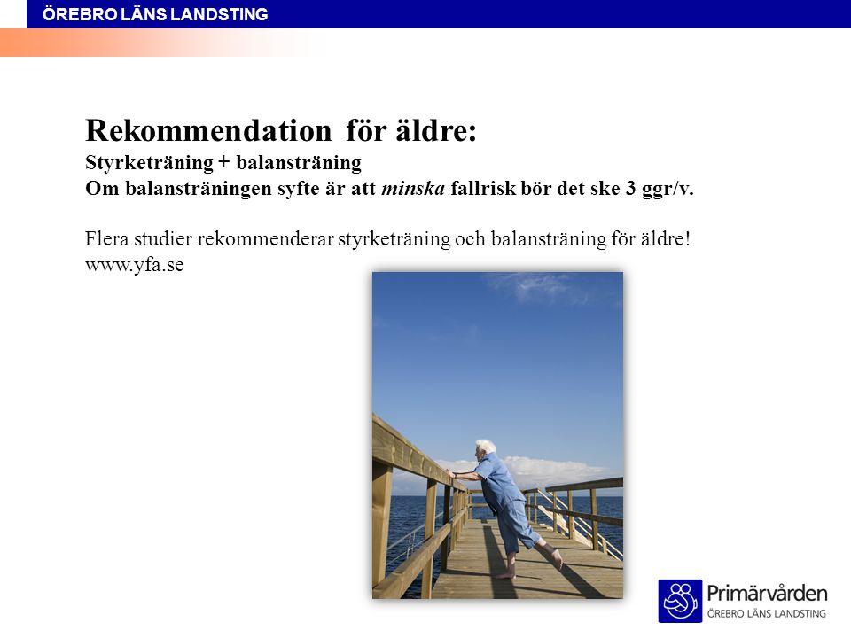 Rekommendation för äldre: