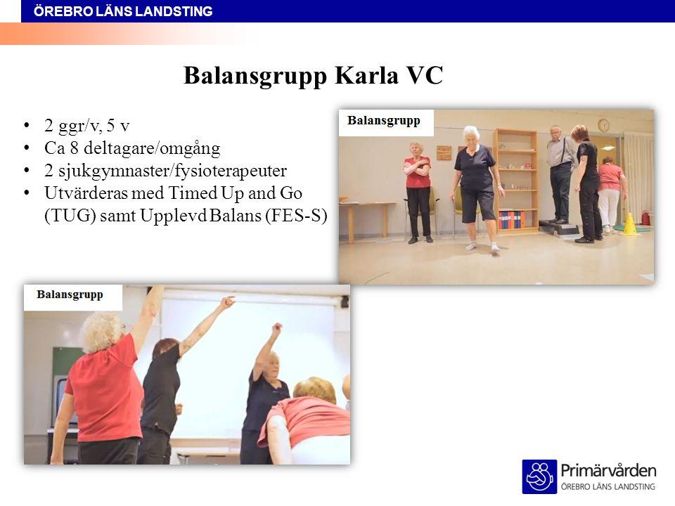 Balansgrupp Karla VC 2 ggr/v, 5 v Ca 8 deltagare/omgång
