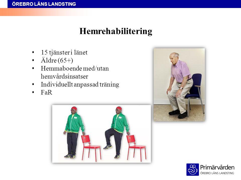 Hemrehabilitering 15 tjänster i länet Äldre (65+)