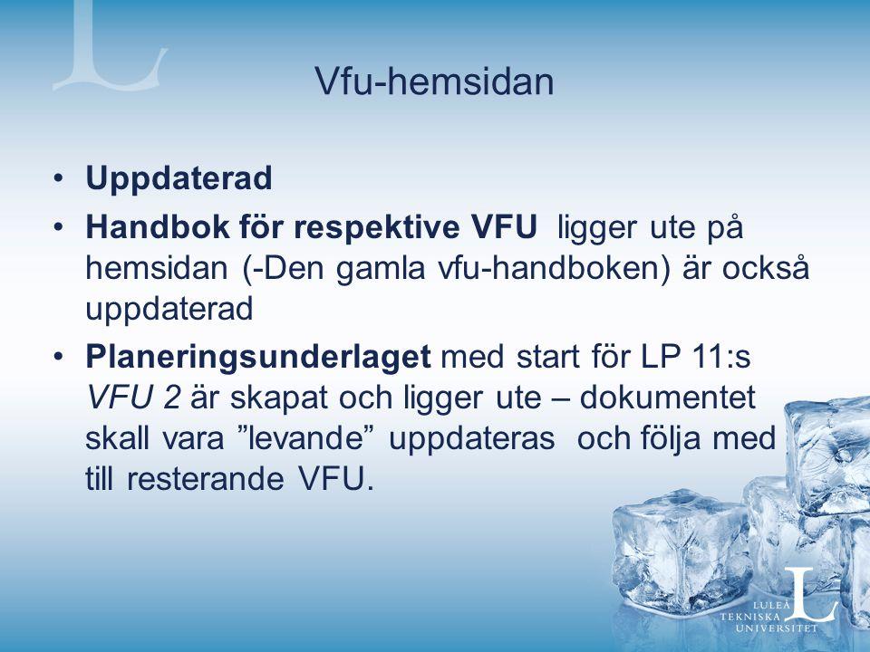 Vfu-hemsidan Uppdaterad