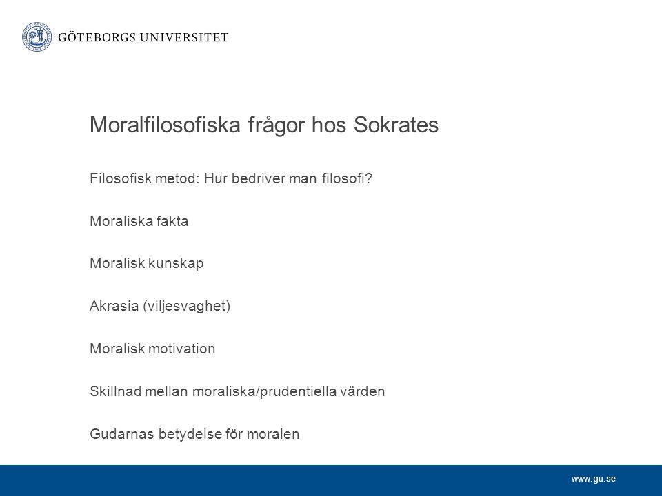 Moralfilosofiska frågor hos Sokrates