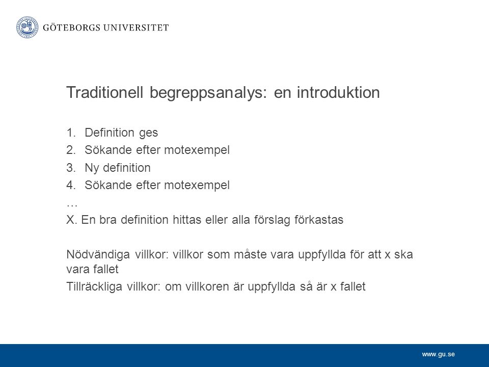 Traditionell begreppsanalys: en introduktion