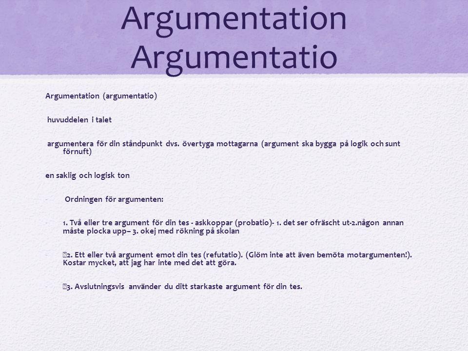 Argumentation Argumentatio
