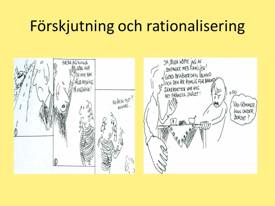 Förskjutning och rationalisering