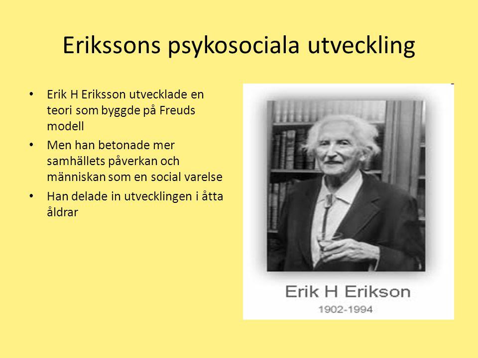 Erikssons psykosociala utveckling
