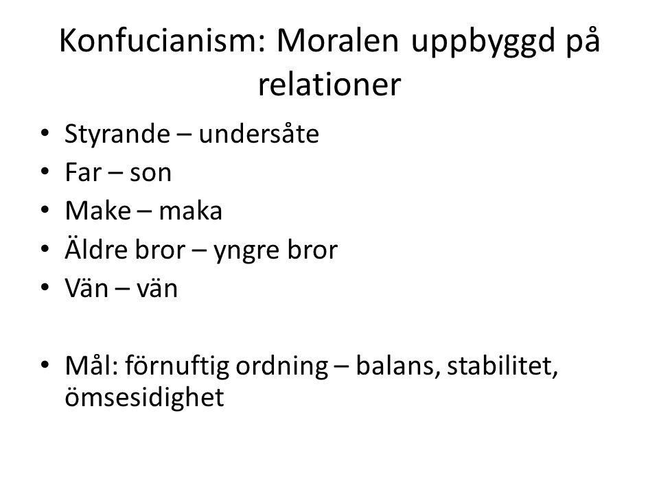 Konfucianism: Moralen uppbyggd på relationer