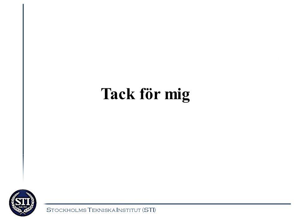 Tack för mig Stockholms Tekniska Institut (STI)