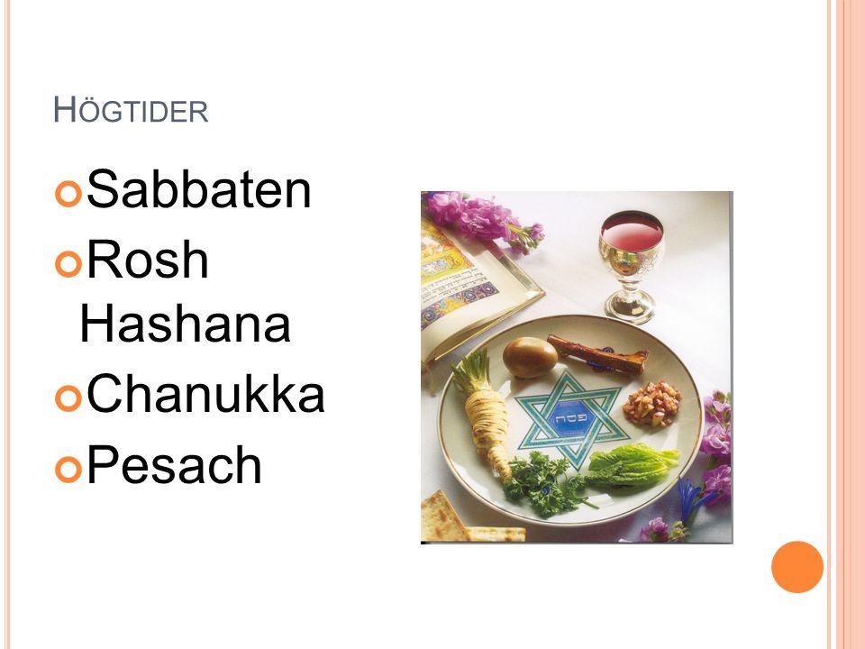 Högtider Sabbaten Rosh Hashana Chanukka Pesach