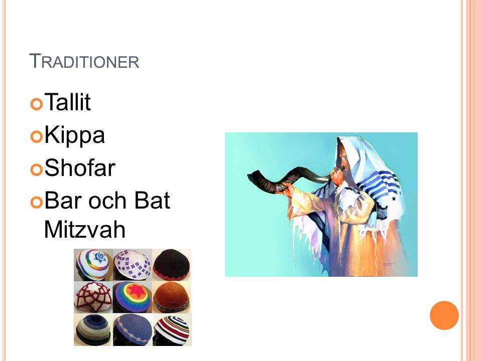 Traditioner Tallit Kippa Shofar Bar och Bat Mitzvah