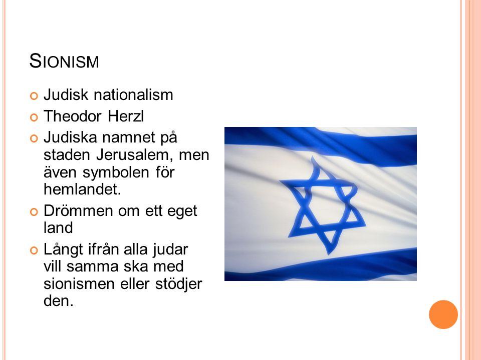 Sionism Judisk nationalism Theodor Herzl