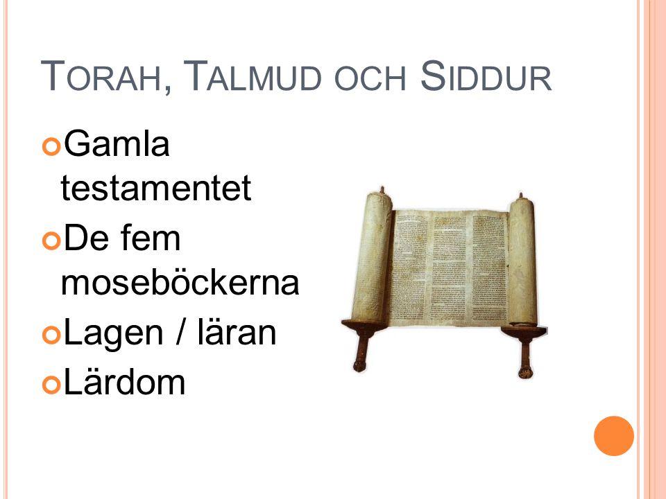 Torah, Talmud och Siddur