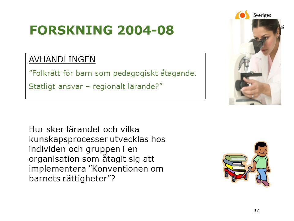 FORSKNING 2004-08 AVHANDLINGEN