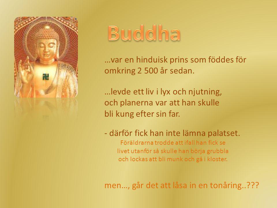 Buddha …var en hinduisk prins som föddes för omkring 2 500 år sedan.